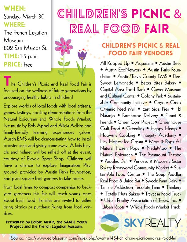 Childrens Picnic and Real Food Fair